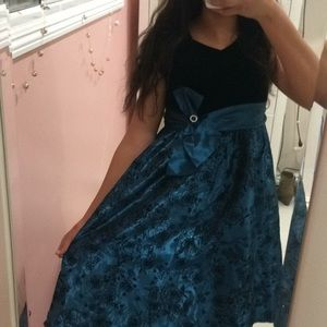 Royal blue girls dress